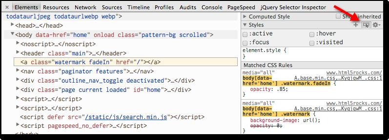 Edit CSS in DevTools