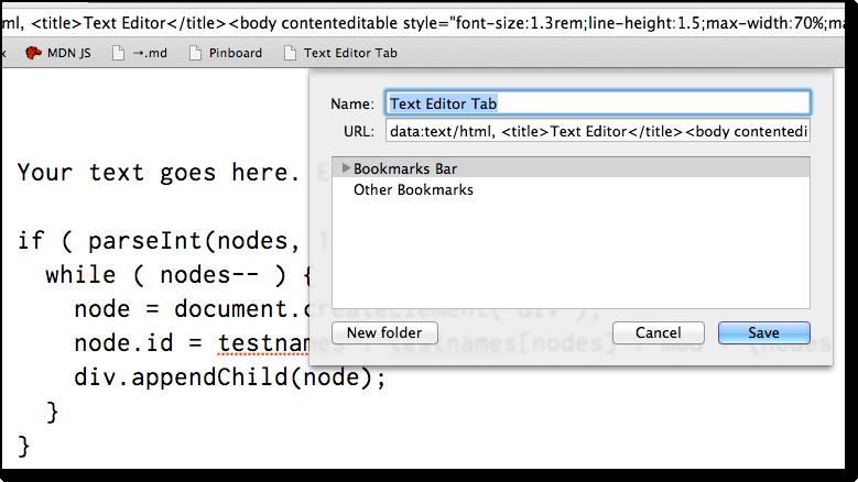 Text Editor Tab
